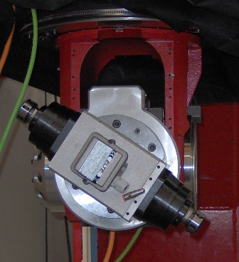 Double shaft spindle for quick tool change