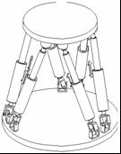 Stewart Platform. Parallel robot.
